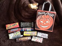 HALLOWEEN Treat Candy Bag with 10 Candies  by ChelseaAlexisJordan, $6.00