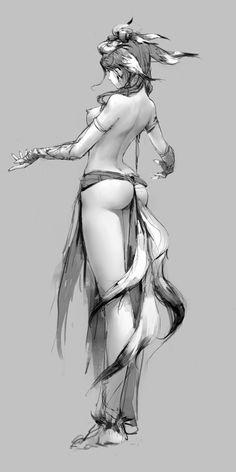 Female back