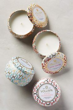 "Voluspa Maison Blanc Mini Candle - $8 ""Laguna"" or ""champagne"" or any ocean or beachy scents."