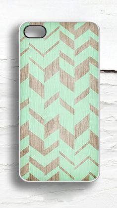 Geometric Faux Wood iPhone Case