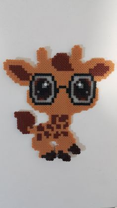 Baby google Giraffe perler beads, hama beads, bead sprites, nabbi fuse melty beads  by bslirabsl
