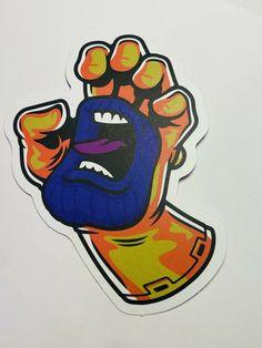 Santa Cruz Logo, Skateboard Design, Hand Logo, Scream, Avengers, Decals, Hands, Stickers, The Originals