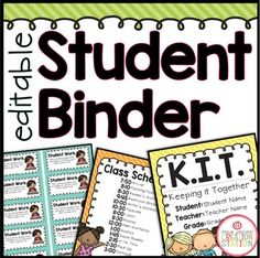 Student Binder {Brig