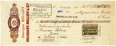 This vintage French cheque features some wonderful details including a lovely swirl design on the left hand side, French handwriting, stamped names, numbers, dates and a mailing stamp. The signatur… Vintage Type, French Vintage, Vintage Clip, Vintage Labels, Vintage Ephemera, French Handwriting, Old Paper, Paris, Vintage Images