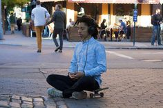 Channel inner peace with meditation.