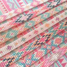 Beads-armbandje 'Colorful Sparkles' - Mint15