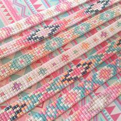 Beads-armbandje 'Ibiza Parade' - Mint15 No instructions but love the colors and patterns.