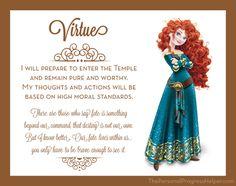 Young Women Value Disney Princess Posters | Virtue: Merida