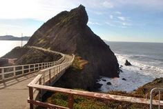 The paved trail leading out to Point Bonita.