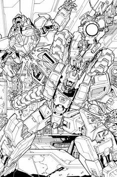 Fall Of Cybertron Fan Art Lineart By GoddessMechanic