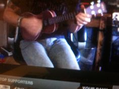 A close up of the ukulele and other things... I'm not even a little sorry  Steve Carlson stageit show 10/27/2013