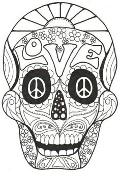 dahlia : color one of the most beautiful flowers, from the gallery ... - Simple Sugar Skull Coloring Pages
