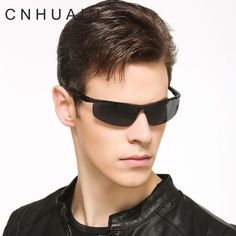 d5cd71b013 CNHUAIN Brand Aluminium Magnesium Men s Sunglasses Polarized Day And Night Driving  Sun Glasses For Men Night