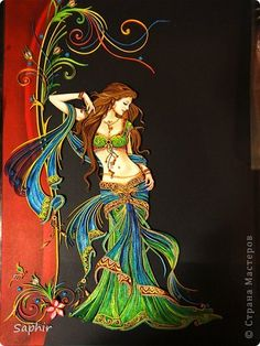 Painting mural design motifs Paper Quilling Indian band photo 29