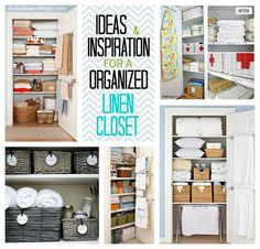 Project Linen Closet {clean and organize}