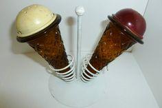 Vintage salt and pepper shaker by PBLVintageandMore on Etsy