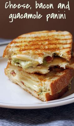 Cheese, bacon and guacamole panini for those days when you just need some comfort food! [ThePerfectPantry.com]