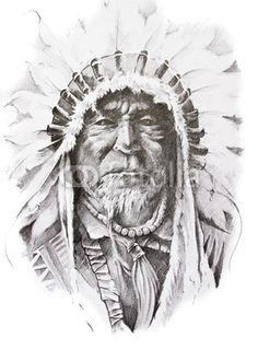Chickasaw Indian Chief for Grandad | Tattoo ideas ...