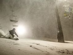Night skiing the Nor'easter