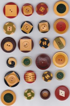 24 Vintage Bakelite Cookie Buttons Great Designs and Colors | eBay