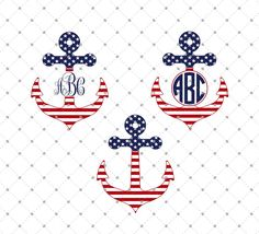 Free 4th of July Anchor SVG Cut Files for Cricut and Silhouette. Free for 48 hours. Personal and Comercial use.