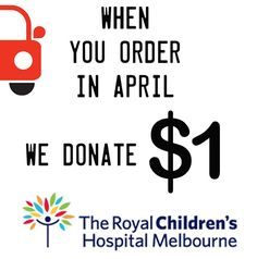 It's the Good Friday Appeal this month a major fundraising event for the Royal Children's Hospital in Melbourne. We will be donating ONE DOLLAR for every order you make during April. Yeah we miss the Good Friday deadline by a little bit - but I wanted to do this for a whole month!  We have been so lucky to have a healthy kid I'm taking this month to be thankful we don't need the RCH - and to try to make it better for those that do. I've been inspired by my friend and her little girl and how…