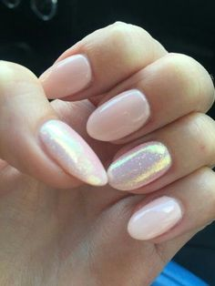 Iridescent Nude - The Prettiest Wedding Nails For Your Big Day - Photos