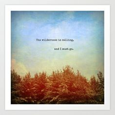 The Wilderness is Calling Art