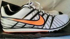 Nike Zoom Rival D 6 Track Spike Running Shoes White Black Orange size 12.5 D NEW #Nike #RunningCrossTraining