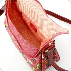 OILILY TASCHE French Flowers : M Shoulder Bag in Pink : Onlineshop