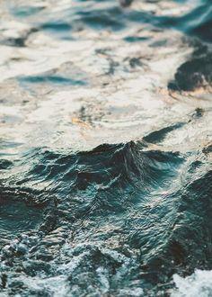 Beautiful multicolored ocean waves.