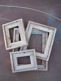 Lot Of 6 Deluxe Barnwood Picture Frames. 3-5x7, 1-8x10, 1-11x14 & 1-16x20…