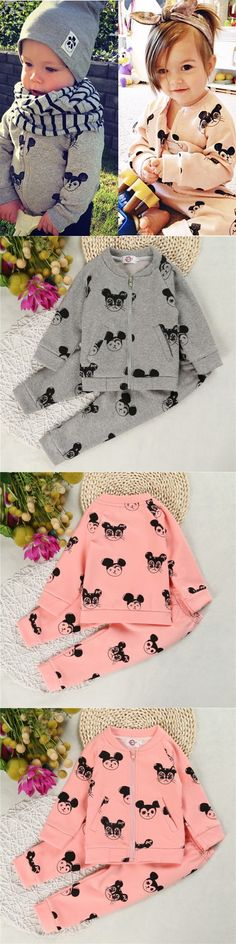 Boys Clothes Thicken Kids Clothing Sets Minnie Toddler Girls Outfits Fleece Lining Roupas Infantis Menino Spring Autumn Winter $13.59