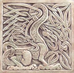 Celtic Dragon tile.