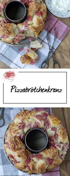 Pizzabrötchenkranz
