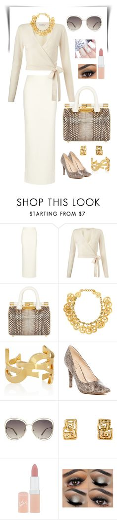 """Untitled #221"" by gorgeouslor ❤ liked on Polyvore featuring Alice + Olivia, Miss Selfridge, Tyler Alexandra, Chanel, Yves Saint Laurent, Nine West, Chloé and Rimmel"