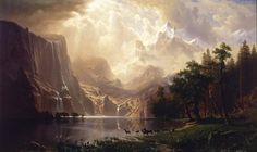 The First Official Depiction of Yosemite Valley Ever Made, by Albert Bierstadt