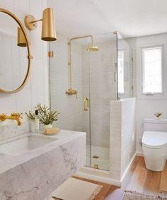 Bathroom decor for your bathroom remodel. Discover bathroom organization, bathroom decor ideas, bathroom tile ideas, bathroom paint colors, and more. Bad Inspiration, Bathroom Inspiration, Interior Inspiration, Bathroom Goals, Small Bathroom, Bathroom Ideas, Tan Bathroom, Bathroom Organization, Bathroom Marble