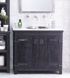 "Native Trails 36"" American Vanity in Anvil farmhouse-bathroom-vanities-and-sink-consoles"