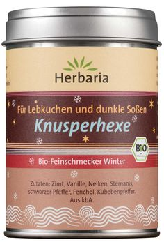 The wicked witch Organic Gourmet Winter Spice from Herbaria is a versatile spice mix for the cold season. Marzipan, Vegan Roast, Spice Cake, Wicked Witch, Spice Mixes, Bio, Herbaria, Winter, Gingerbread