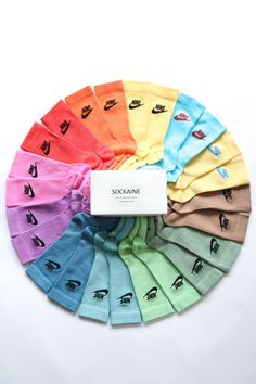 Nike Ankle Socks Dyed Hand Made Colors Available : Brown - Purple - Pink - Orange - Yellow - Blue - Emeraude - Green - Forest green - Light blue -. Aesthetic Shoes, Aesthetic Clothes, Casa Anime, Socks Outfit, Cute Socks, Red Socks, Comfy Socks, Tie Dye Socks, Cute Lazy Outfits