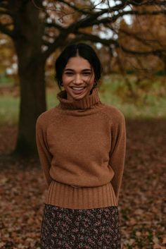 Lightweight, wool mix jumper with a roll neckline, slits to either side of the hemline and finished with a small Olive tab to the seam. Olive Clothing, Modest Fashion, Fashion Outfits, Dedicated Follower Of Fashion, Jumper Outfit, Roll Neck Jumpers, Winter Looks, Work Attire, Sweater Weather