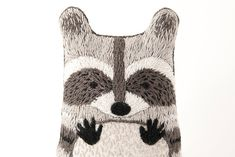 Hand Embroidery For Beginners Raccoon is a Level 3 pattern, using a variety of stitches that cover up most of the pattern surface. Great for adventurous beginners or seasoned stitchers! All Kiriki patterns are screen printed by ha Diy Embroidery Kit, Dmc Embroidery Floss, Embroidery For Beginners, Hand Embroidery Patterns, Embroidery Designs, Learn Embroidery, Etsy Embroidery, Embroidery Needles, Pattern Baby
