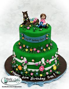 HAPPY BIRTHDAY sweet Tojax and tuketele! I hope you have an awesome birthday that will bring you many happy memories! Beautiful Cakes, Amazing Cakes, Western Cakes, 4th Birthday Cakes, Happy Birthday, First Communion Cakes, Paris Cakes, Horse Cake, Book Cakes