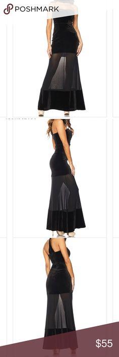 BLACK LONG DRESS Long black dress with choker neck Dresses Maxi