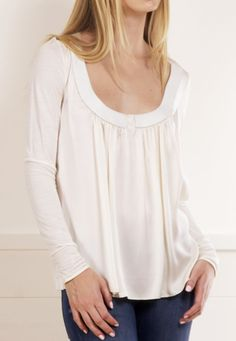 Cream White Blouse.