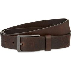 Hugo Boss Sammy leather belt (330 BRL) ❤ liked on Polyvore featuring men's fashion, men's accessories, men's belts, men, mens genuine leather belts, mens belts, mens leather accessories and mens leather belts