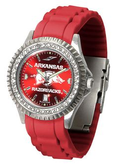 Arkansas Razorbacks Womens Sparkle Watch