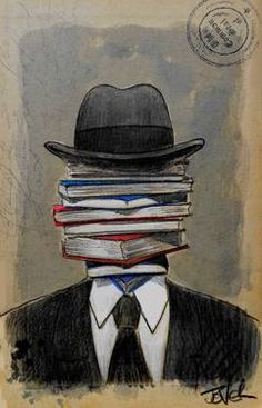 "Saatchi Art Artist Loui Jover; Drawing, ""mr wellread"" #art"