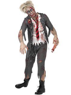 Zombie schooljongen pak voor heren